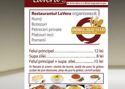 Afis-prezentare restaurant La Vera