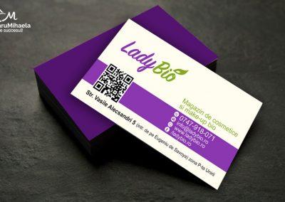 Creare carti de vizita - lady Bio