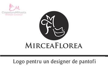 logo pentru Mircea Florea designer de incaltaminte